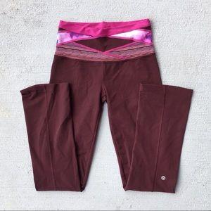 Lululemon Pink Maroon Reversible Yoga Pants